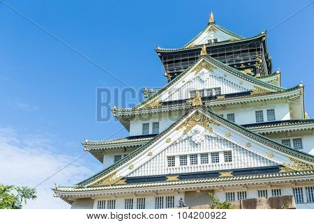 Osaka Castle at day time