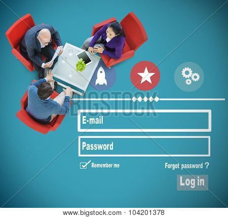 E-mail Identity Password Sing In Web Page Concept