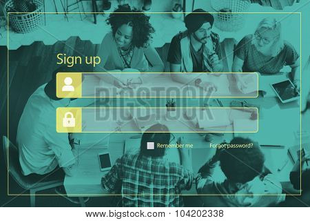 Online Security Password Privacy Networking Concept