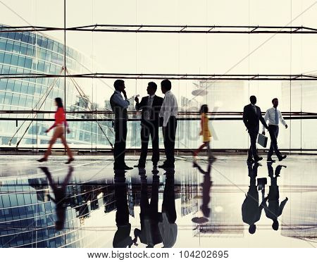 Business People Meeting Discussion Commuter Concept