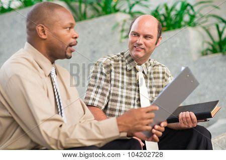 Talking coworkers