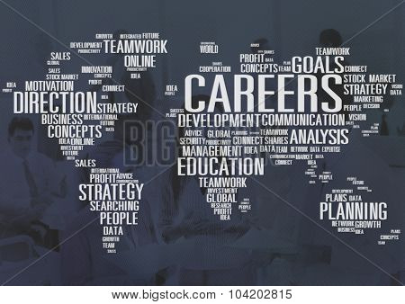 Careers Analysis Cooperation Data Development Concept