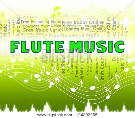Flute Music Indicates Sound Track And Flautists