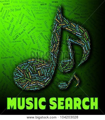 Music Search Shows Gathering Data And Analysis