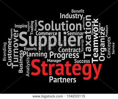 Strategy Word Represents Plans Planning And Innovation