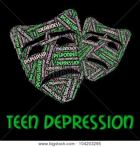 Teen Depression Shows Lost Hope And Adolescent