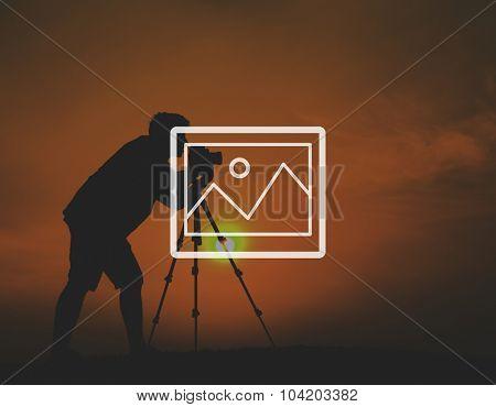 Preview Photograph Icon Image Picture Symbol Concept