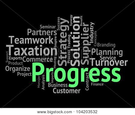 Progress Word Means Words Advancement And Forward