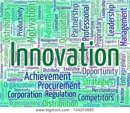 Innovation Word Represents Innovating Text And Modernization