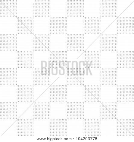 Checkered Seamless Pattern With Textured Squares In Light Grey