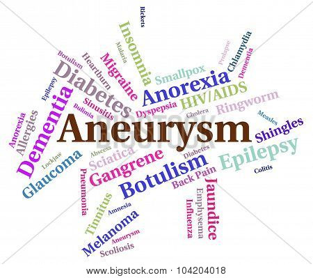 Aneurysm Illness Means Poor Health And Affliction