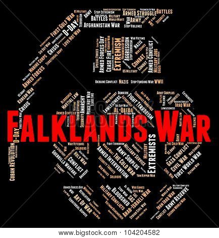 Falklands War Represents Military Action And Battle