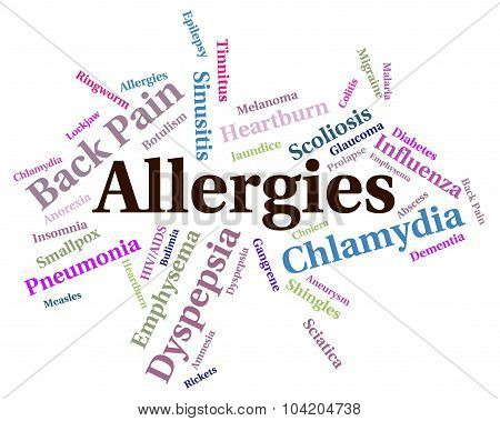 Allergies Problem Shows Ill Health And Affliction