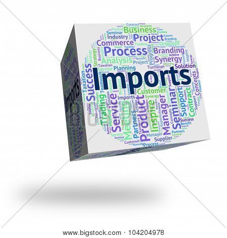 Imports Word Represents Buy Abroad And Cargo