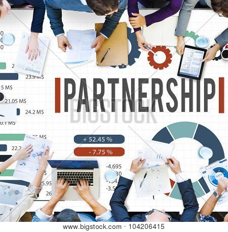 Partnership Partner Team Teamwork Organization Concept