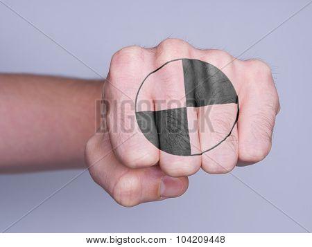 Fist Of A Man Punching, crash test dummy