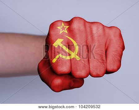 Fist Of A Man Punching, USSR