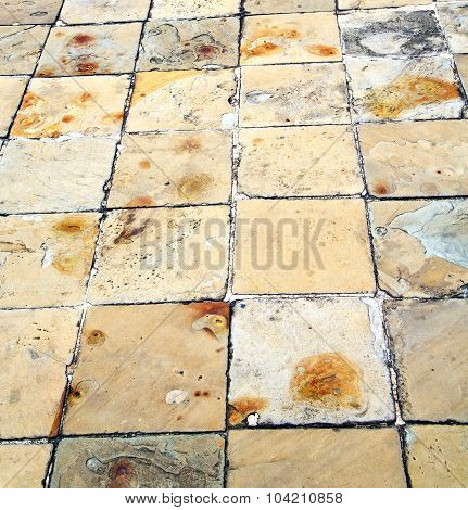 In   Asia  Bangkok  Abstract Pavement Cross Stone Step The Temple