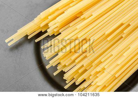 Uncooked Pasta Spaghetti Macaroni.