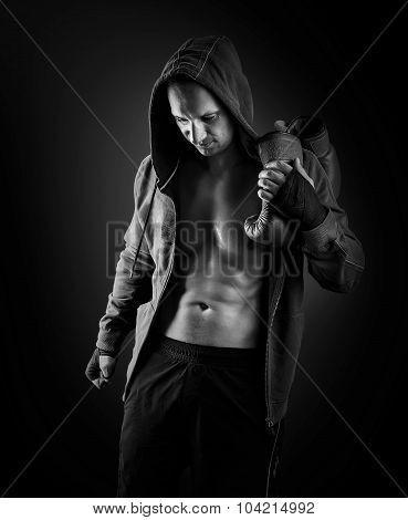 Young Muscular Men Boxer