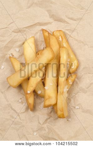 French Fries With Coarse Salt
