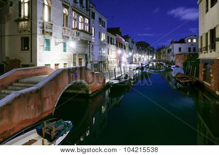Canals And Boats In Cannaregio, Venice