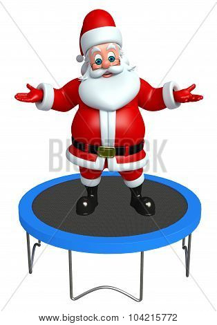 Santa Claus With Trampoline Jumping Bed