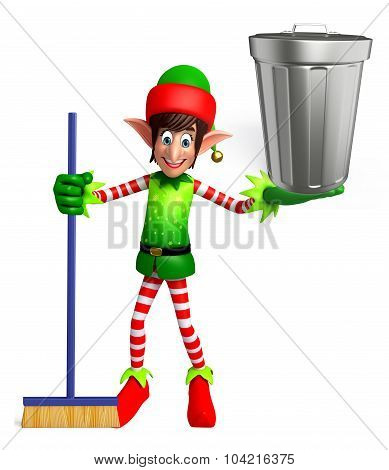 Elves With Dustbin