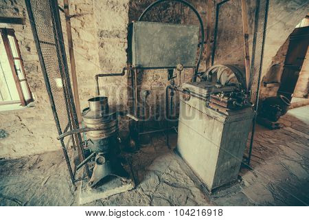 Old factory for the production of olive oil