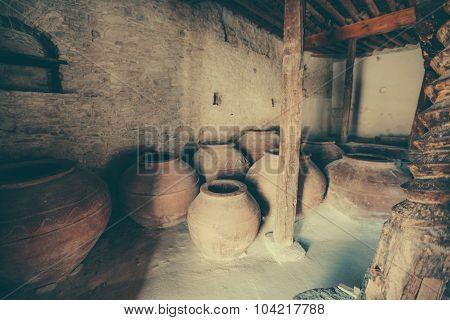 Chinese wine barrels