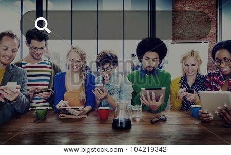 Search Box Web Online Technology Internet Website Concept