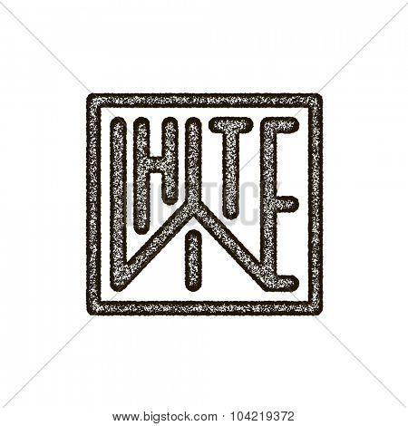 White. Vector concert. Vector art. Grunge style.