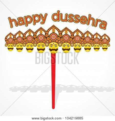 happy dussehra greeting card or poster design
