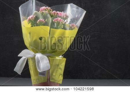 Flowers Buquet with Balck background