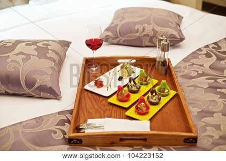Canapé Appetizer In Bed