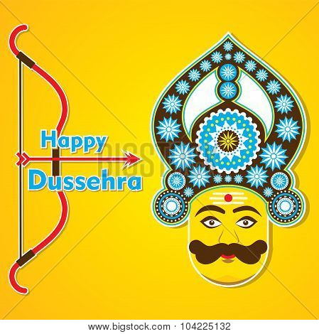 happy dussehra greeting card design