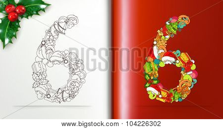 Christmas numeric, vector