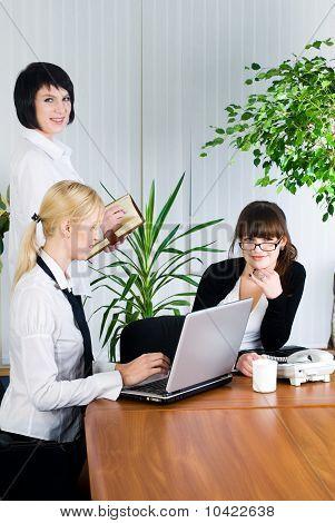 Businesswoman presentation