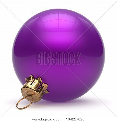 Christmas Ball New Year's Eve Bauble Decoration Purple