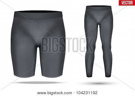 Thermal underwear layer compression pants and shorts