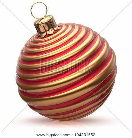 Christmas Ball New Year's Eve Decoration Bauble Red Golden