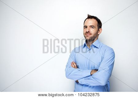 Creative concept for modern businessman