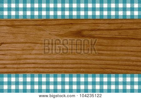 Wooden Background Tablecloth Tourquoise White