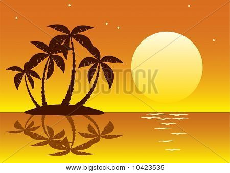 tropical palm island