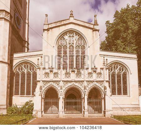 Retro Looking St Margaret Church In London