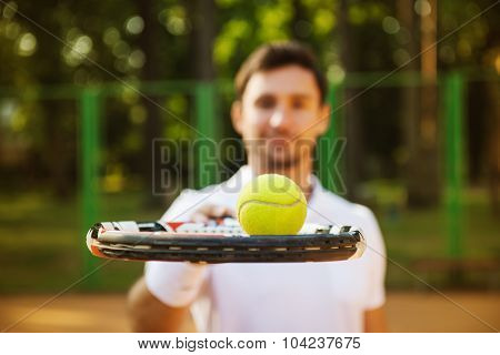 Concept for male tennis player