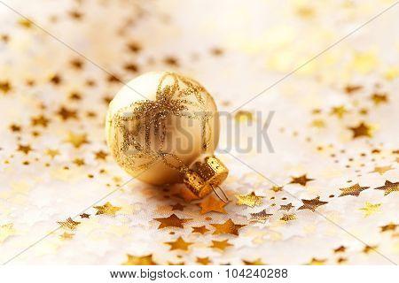 Golden Christmas ornament