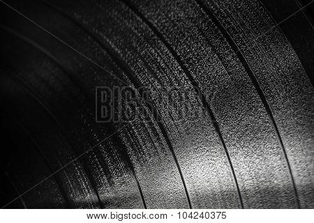 Background Texture Of Black Vinyl Record
