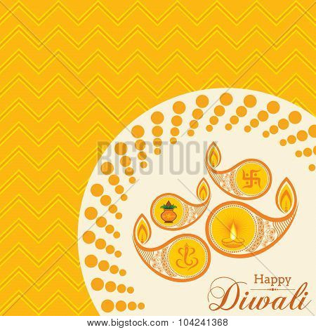 Stylish design and text for Diwali celebration stock vector