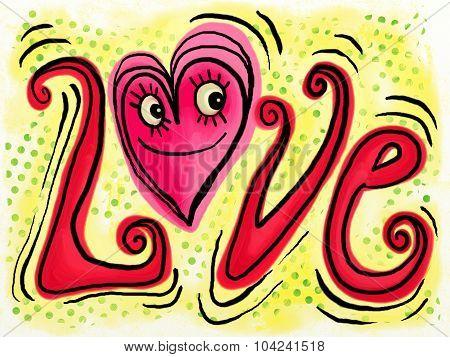 Love Doodle Text